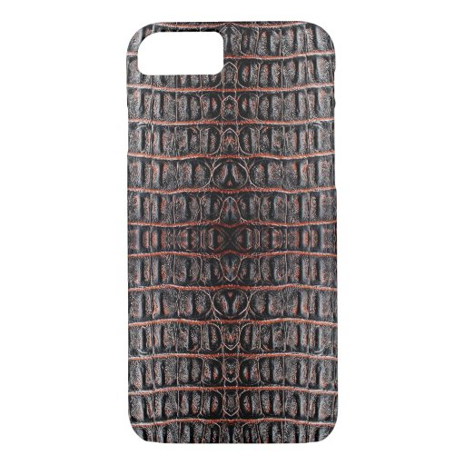 Vintage crocodile skin iPhone 8/7 case
