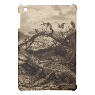 Vintage Crocodile Swamp iPad Mini Case Art Reptile
