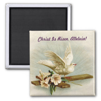 Vintage Cross And Dove Magnet