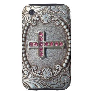 Vintage Cross Tough iPhone 3 Case