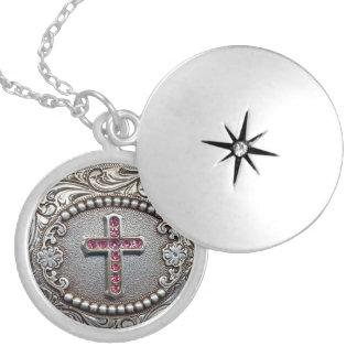 Vintage Cross Locket Necklace