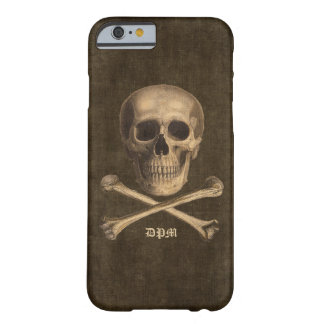 Vintage Crossbones Monogram Barely There iPhone 6 Case