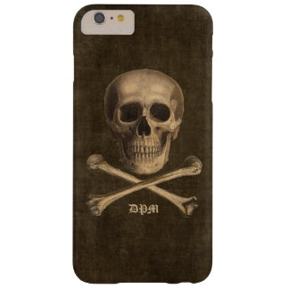 Vintage Crossbones Monogram Barely There iPhone 6 Plus Case
