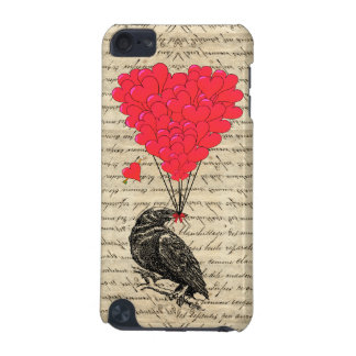 Vintage Crow and heart shaped balloons iPod Touch (5th Generation) Case