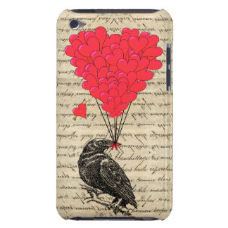 Vintage Crow and heart shaped balloons iPod Touch Case-Mate Case