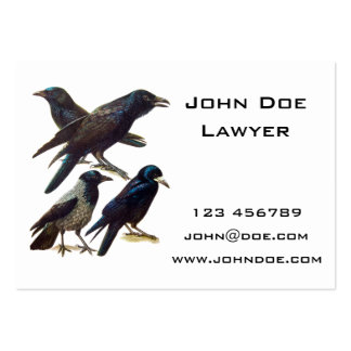Vintage Crow and Raven Collage, Black Birds Large Business Card