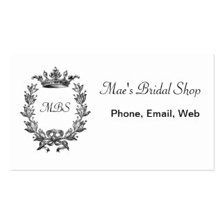 Vintage Crown and Wreath Art Business Card