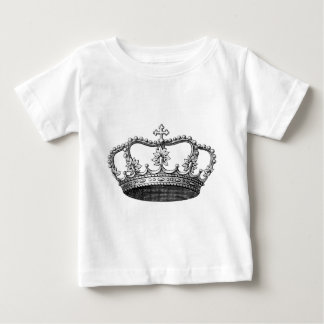 Vintage Crown Black and White Baby T-Shirt