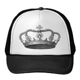 Vintage Crown Black and White Trucker Hat