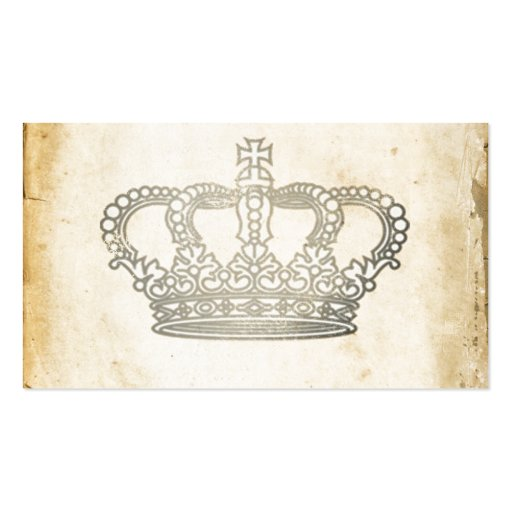 Vintage Crown Business Card Template