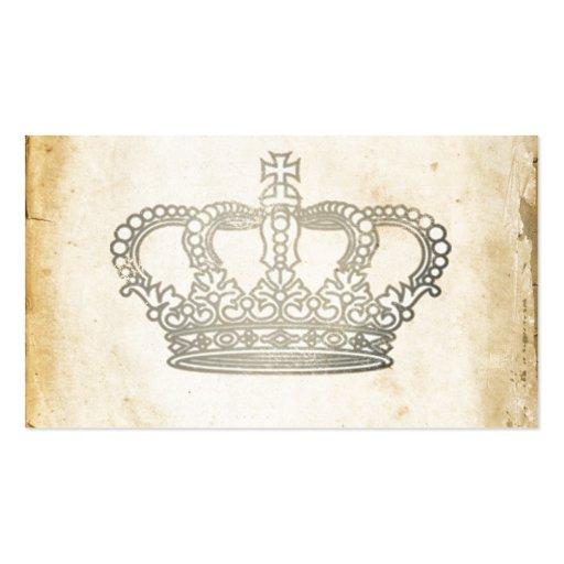 Vintage Crown Business Card Template