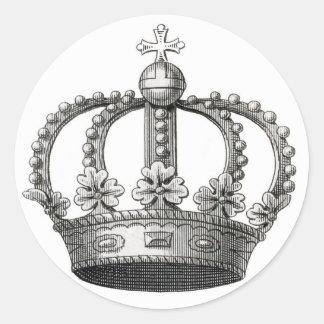 Vintage Crown Classic Round Sticker