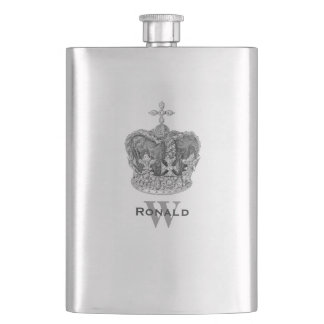 Vintage Crown Custom Flask