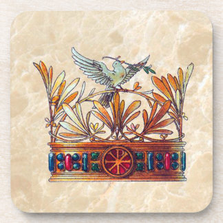 Vintage Crown Image Coaster