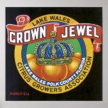 Vintage Crown Jewel Label Print