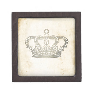 Vintage Crown Jewelry Box