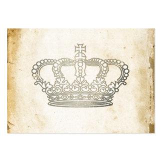 Vintage Crown Large Business Card