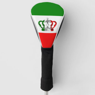 Vintage Crown Modern Italy Italian Flag Golf Head Cover
