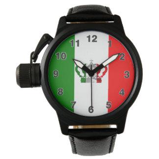 Vintage Crown Modern Italy Italian Flag Wristwatch