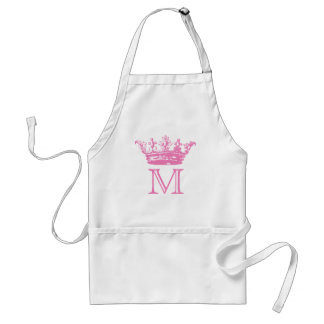 Vintage Crown Monogram Adult Apron