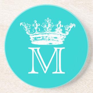 Vintage Crown Monogram Drink Coasters