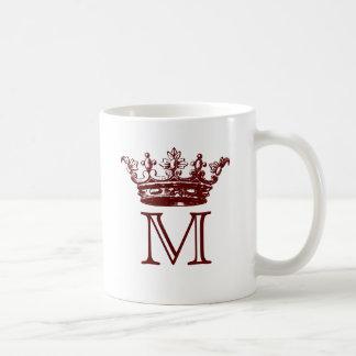 Vintage Crown Monogram Coffee Mug