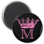 Vintage Crown Monogram Magnets