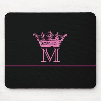 Vintage Crown Monogram Mouse Pad