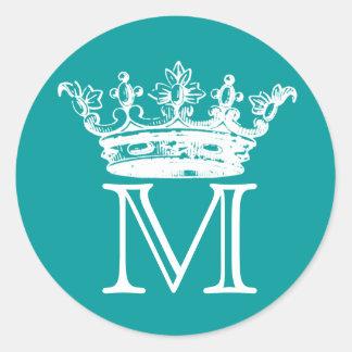 Vintage Crown Monogram Stickers