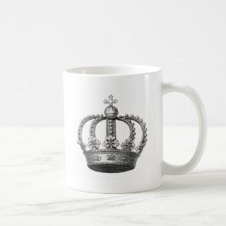 Vintage Crown Basic White Mug
