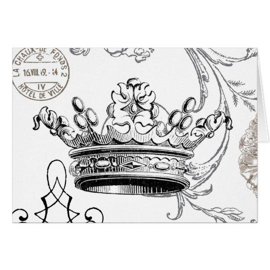 Vintage Crown...notecard Card