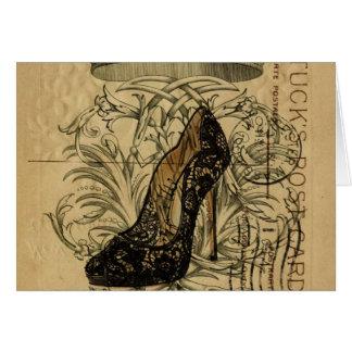 vintage crown paris fashion queen Stiletto Card
