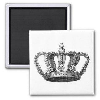 Vintage Crown Square Magnet