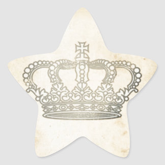 Vintage Crown Star Sticker