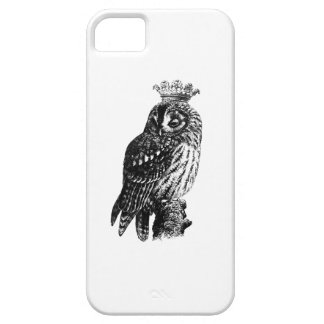 Vintage crowned owl bird owls birds rustic girly iPhone SE/5/5s case