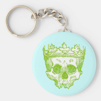 Vintage Crowned Skull Basic Round Button Keychain
