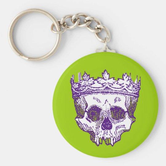 Vintage Crowned Skull Keychain
