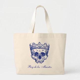 Vintage Crowned Skull Large Tote Bag