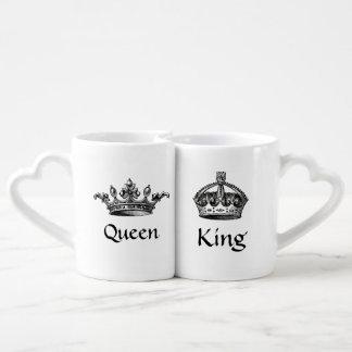 Vintage Crowns Queen/King LOVE Mugs Lovers Mug Sets