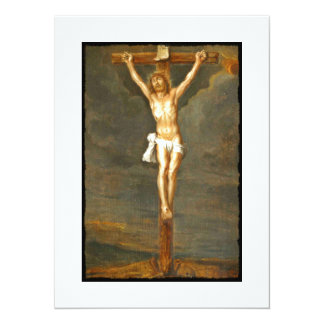 Vintage Crucifixion Image Card