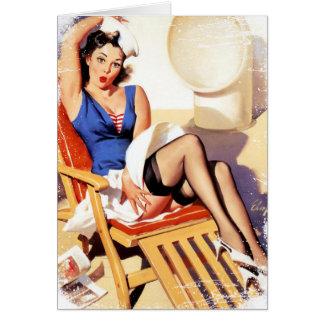 Vintage Cruise Gril Grunge Card