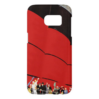 Vintage Cruise Ship Passengers Waving Goodbye Samsung Galaxy S7 Case