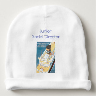 VINTAGE CRUISE SHIP POSTER - Baby Beanie