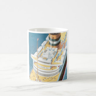 VINTAGE CRUISE SHIP POSTER - COFFEE MUG