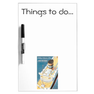 VINTAGE CRUISE SHIP POSTER - Things to do Dry-Erase Board