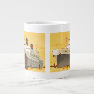 Vintage Cruise Ship to the Orient with Junks Boats Giant Coffee Mug