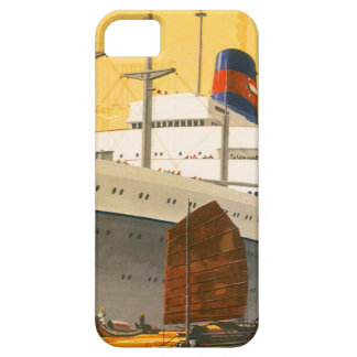 Vintage Cruise Ship to the Orient with Junks Boats iPhone SE/5/5s Case