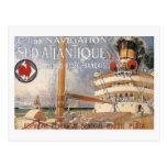 Vintage Cruise Ship Travel Advertisement Post Card
