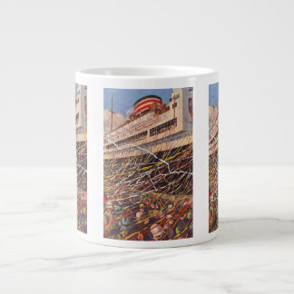 Vintage Cruise Ship Vacation; Bon Voyage Party! Giant Coffee Mug