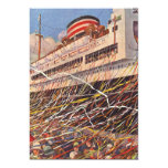 Vintage Cruise Ship Vacation; Bon Voyage Party! Personalized Invite